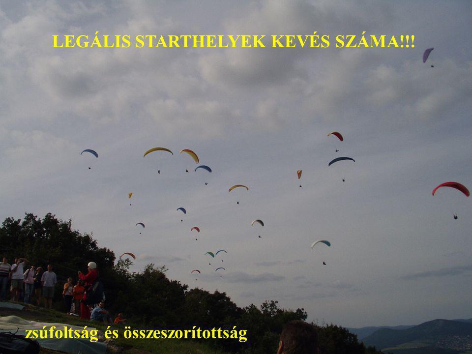 LEGÁLIS STARTHELYEK KEVÉS SZÁMA!!!