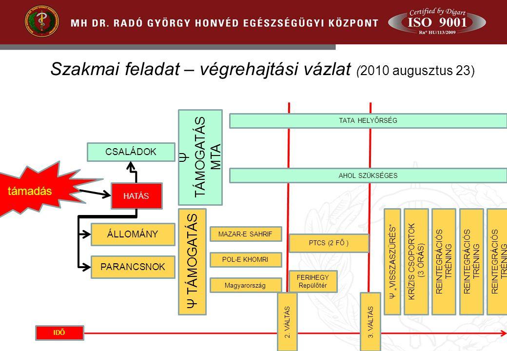 Szakmai feladat – végrehajtási vázlat (2010 augusztus 23)