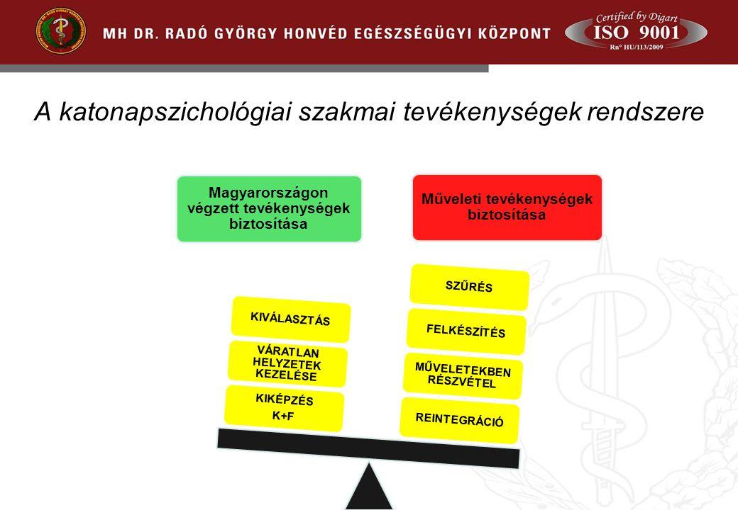 A katonapszichológiai szakmai tevékenységek rendszere