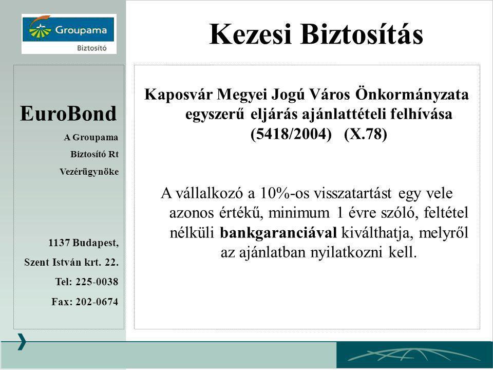 Kezesi Biztosítás EuroBond