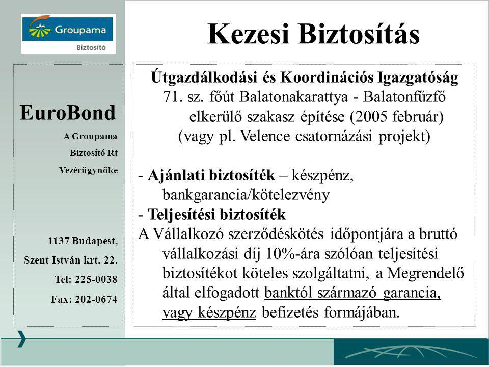 Kezesi Biztosítás EuroBond Útgazdálkodási és Koordinációs Igazgatóság