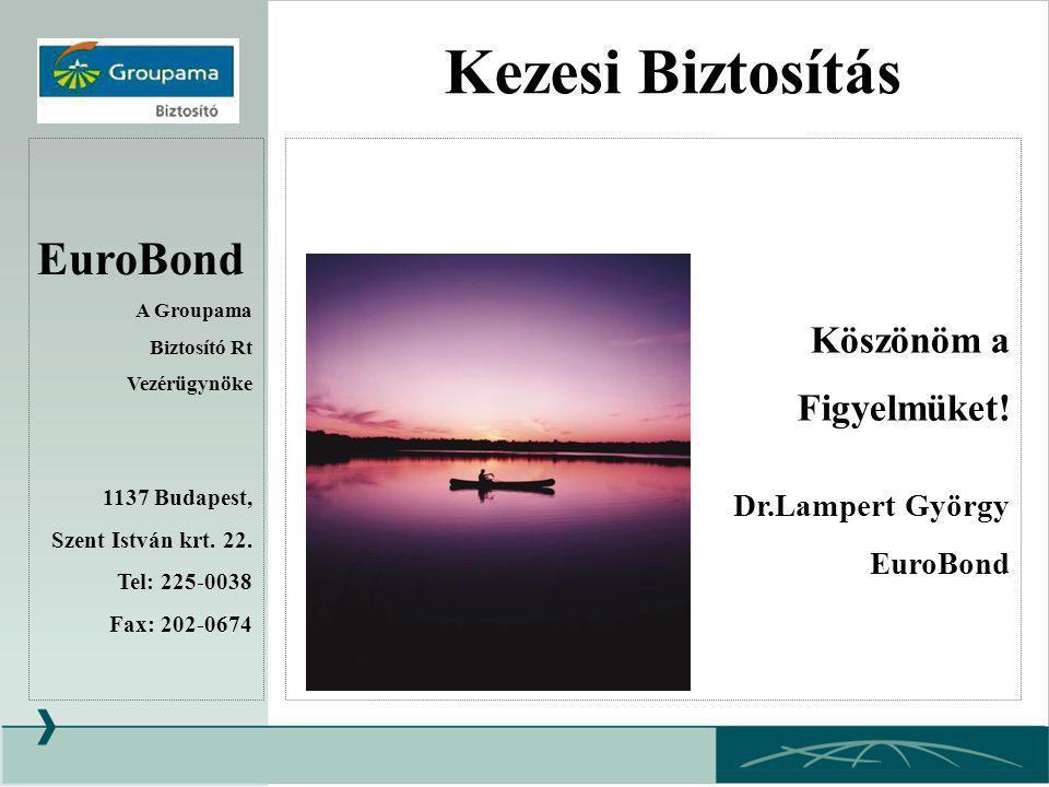 Kezesi Biztosítás EuroBond Köszönöm a Figyelmüket! Dr.Lampert György