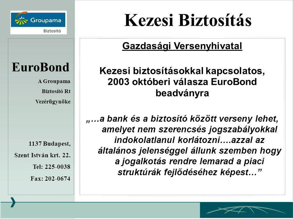 Kezesi Biztosítás EuroBond Gazdasági Versenyhivatal