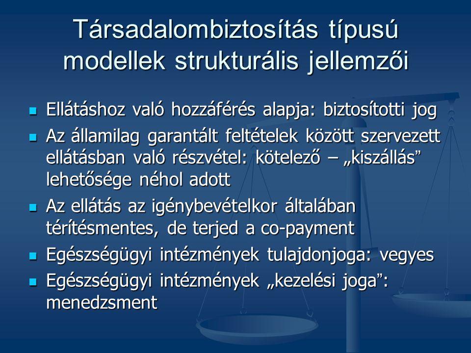Társadalombiztosítás típusú modellek strukturális jellemzői