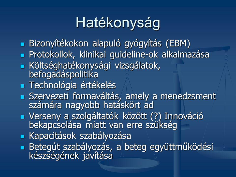 Hatékonyság Bizonyítékokon alapuló gyógyítás (EBM)