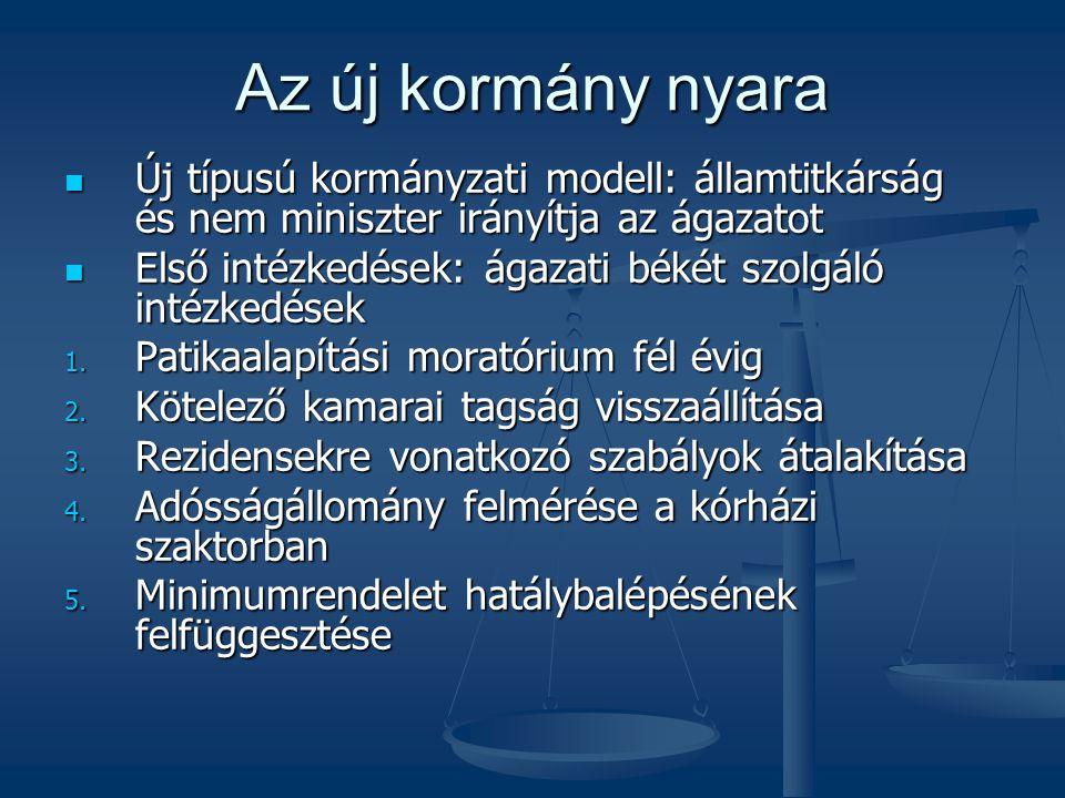 Az új kormány nyara Új típusú kormányzati modell: államtitkárság és nem miniszter irányítja az ágazatot.