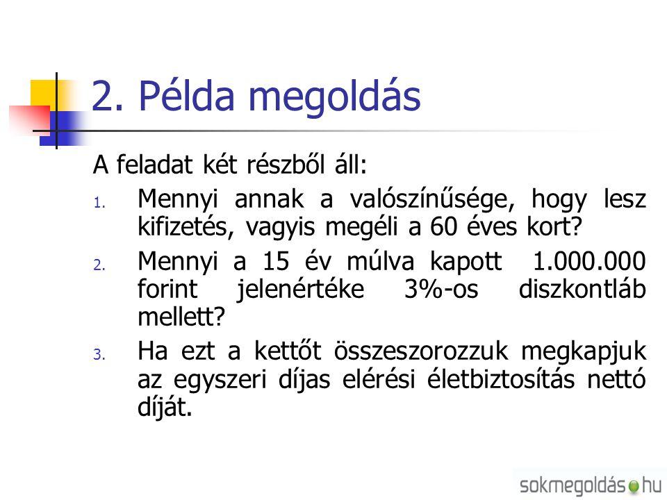 2. Példa megoldás A feladat két részből áll: