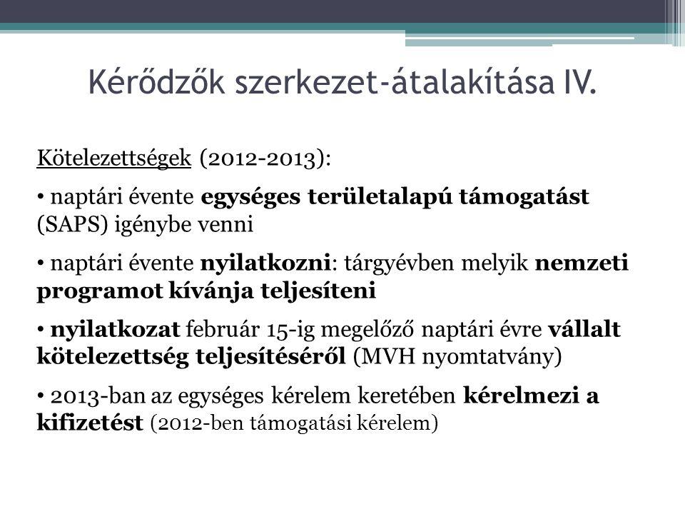 Kérődzők szerkezet-átalakítása IV.