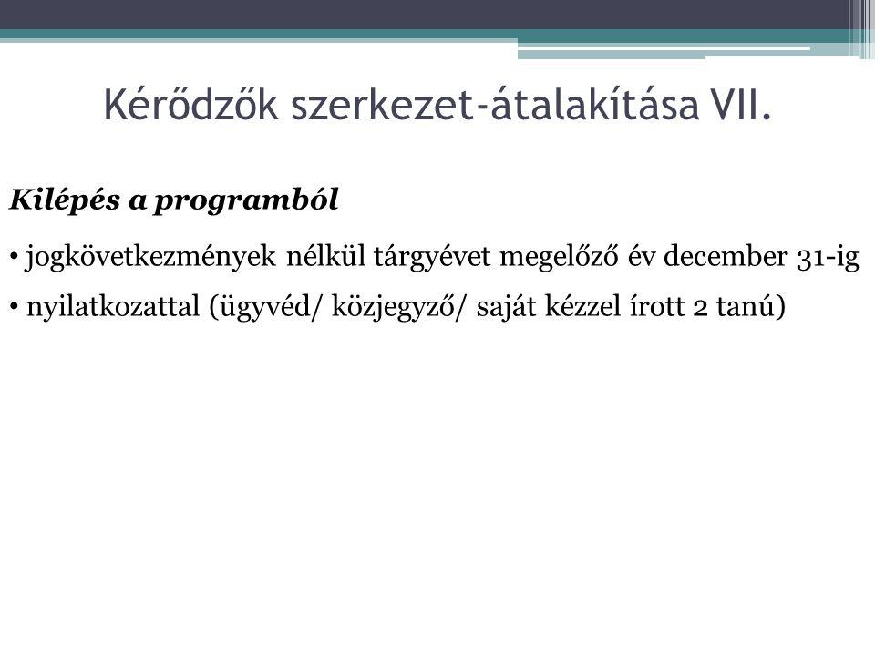 Kérődzők szerkezet-átalakítása VII.