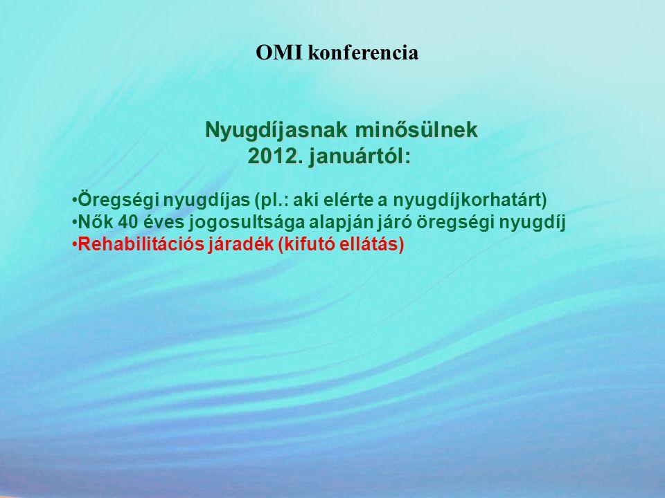 OMI konferencia 2012. januártól: