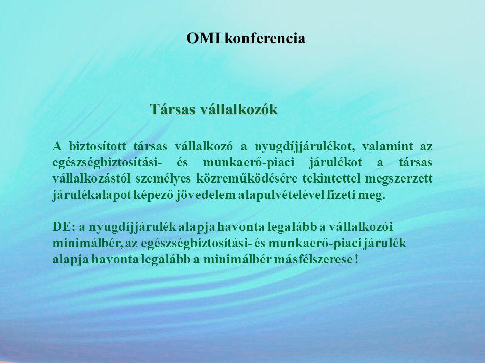 OMI konferencia Társas vállalkozók.