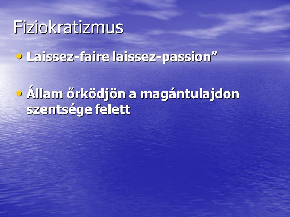 Fiziokratizmus Laissez-faire laissez-passion