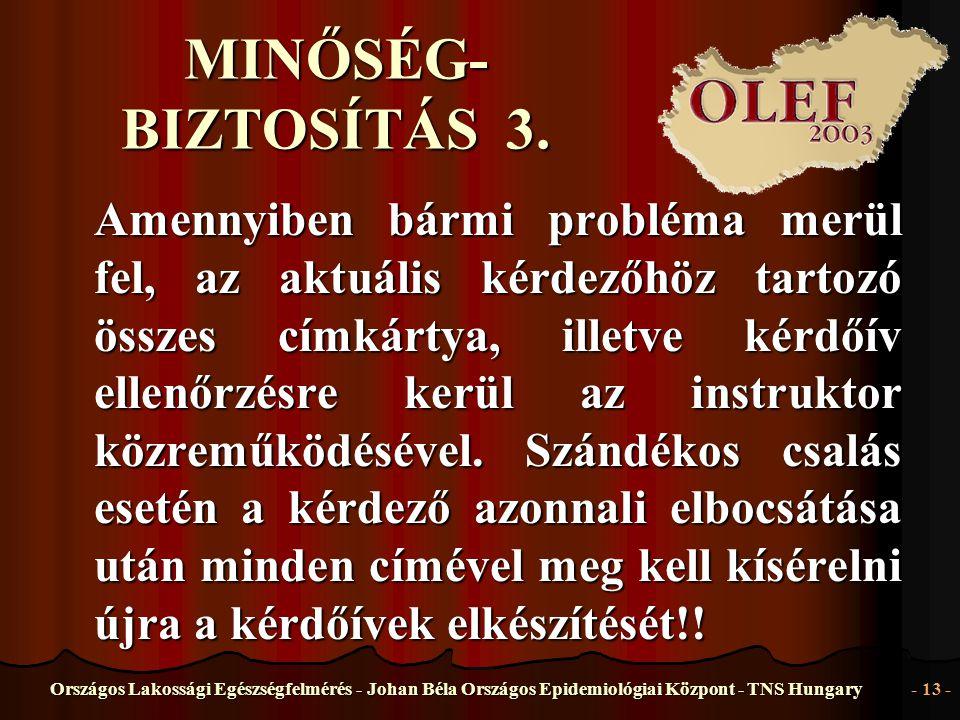 MINŐSÉG-BIZTOSÍTÁS 3.