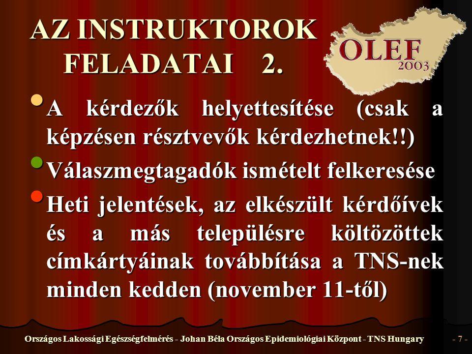 AZ INSTRUKTOROK FELADATAI 2.