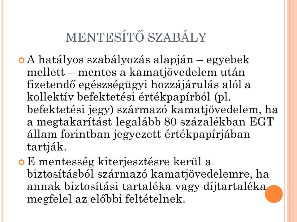MENTESÍTŐ SZABÁLY