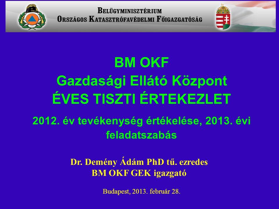 BM OKF Gazdasági Ellátó Központ ÉVES TISZTI ÉRTEKEZLET