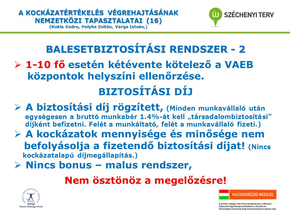 BALESETBIZTOSÍTÁSI RENDSZER - 2