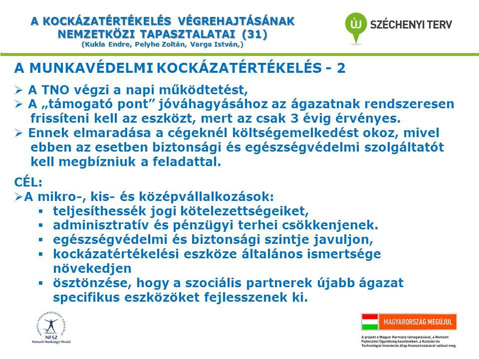 A MUNKAVÉDELMI KOCKÁZATÉRTÉKELÉS - 2