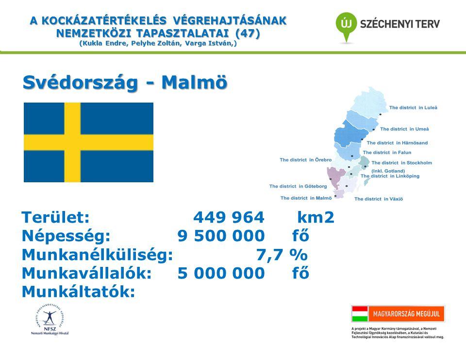 Svédország - Malmö Terület: 449 964 km2 Népesség: 9 500 000 fő