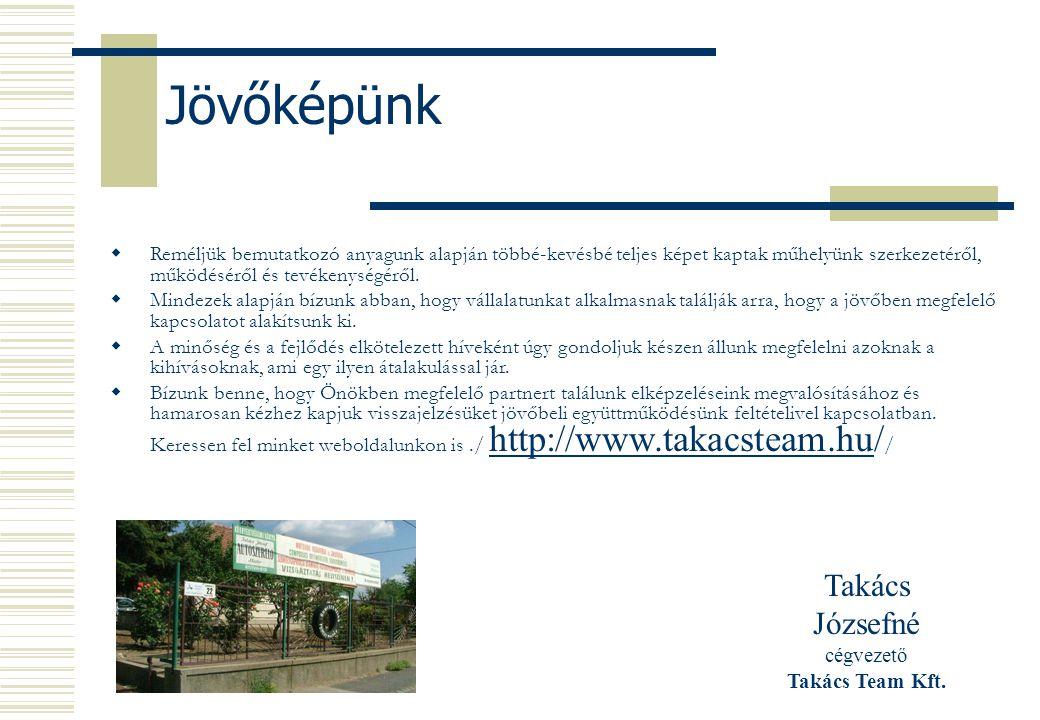 Takács Józsefné cégvezető Takács Team Kft.
