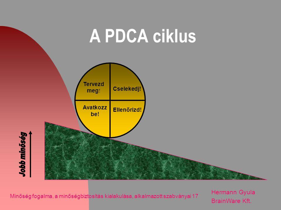 A PDCA ciklus Hermann Gyula BrainWare Kft. Tervezd meg! Cselekedj!