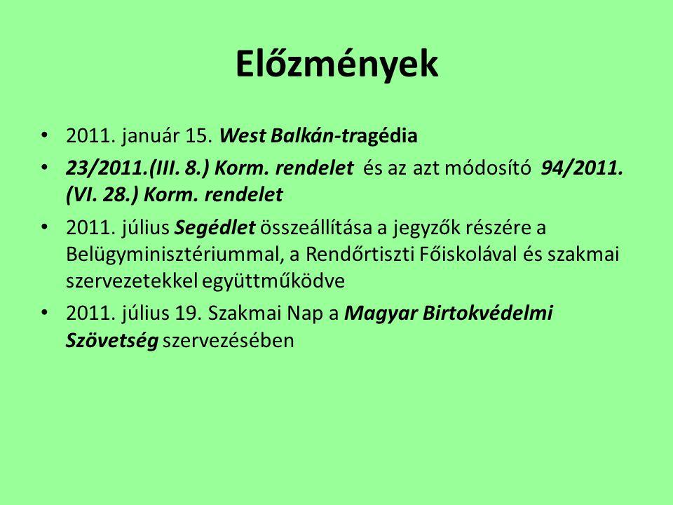 Előzmények 2011. január 15. West Balkán-tragédia