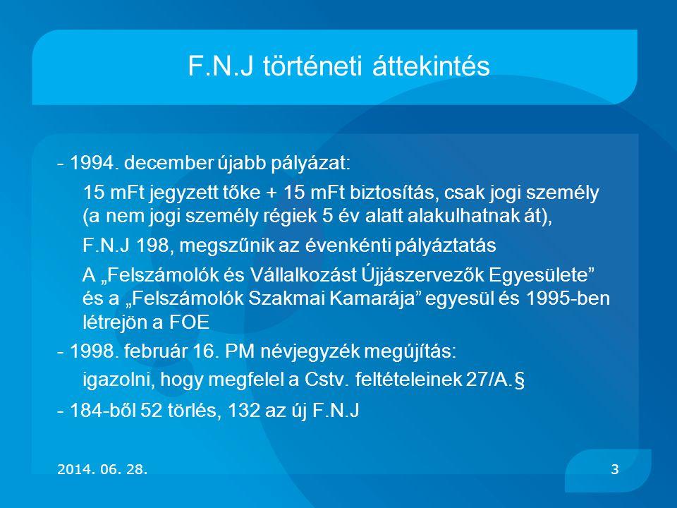 F.N.J történeti áttekintés
