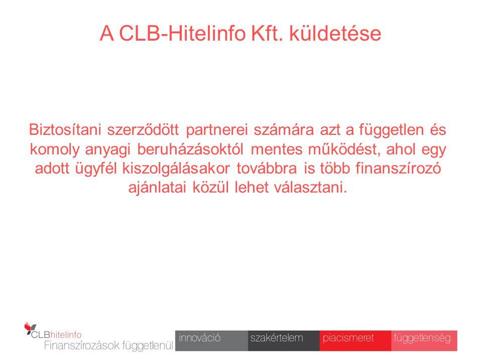A CLB-Hitelinfo Kft. küldetése
