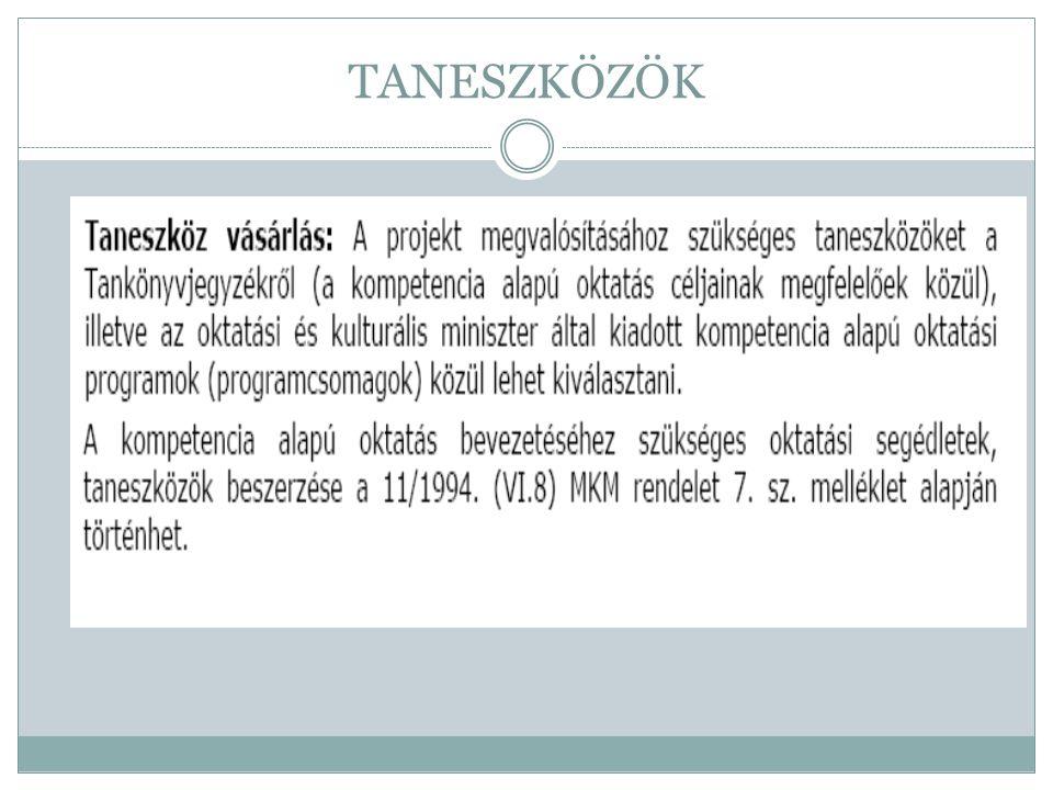 TANESZKÖZÖK