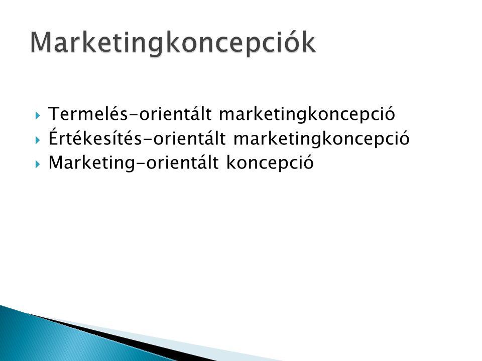 Marketingkoncepciók Termelés-orientált marketingkoncepció