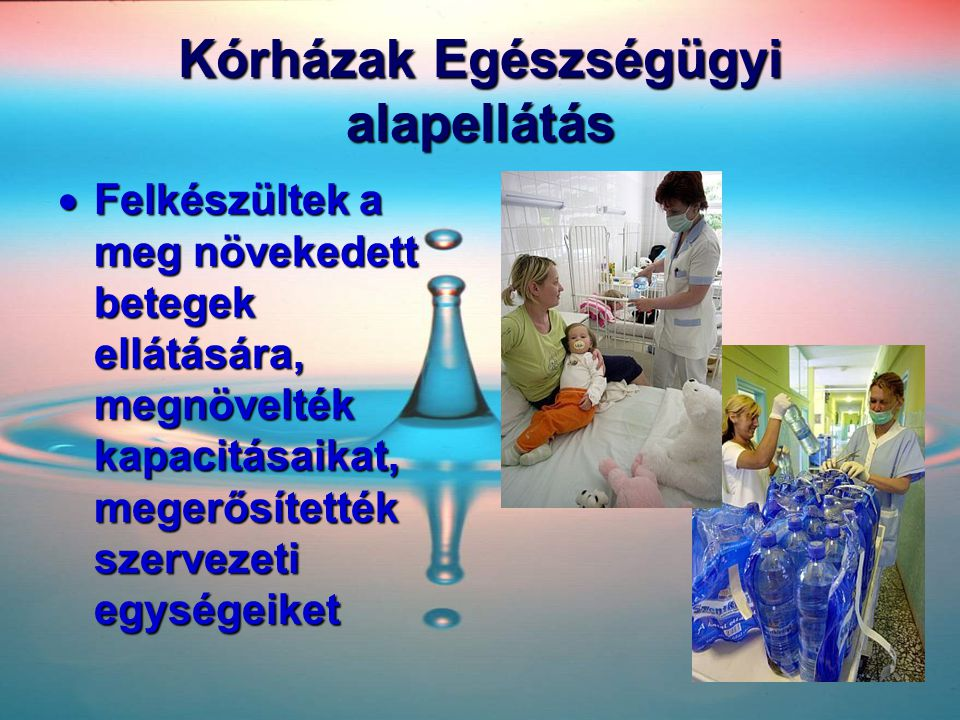 Kórházak Egészségügyi alapellátás