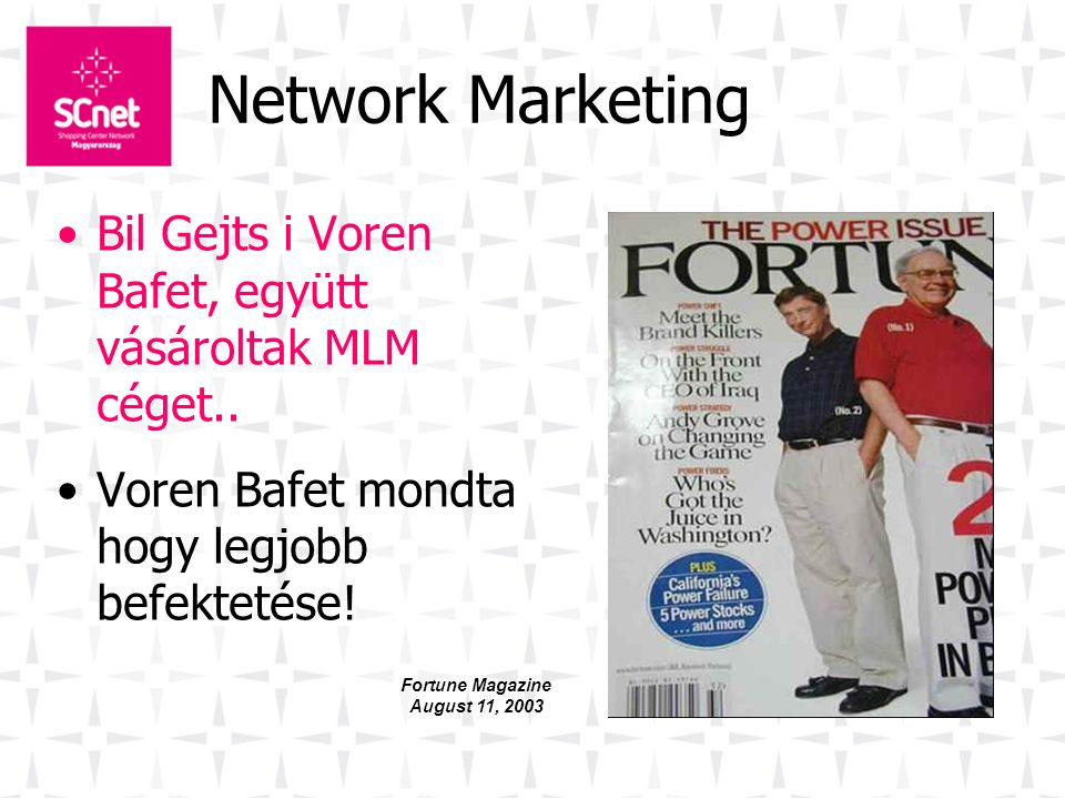 Fortune Magazine August 11, 2003