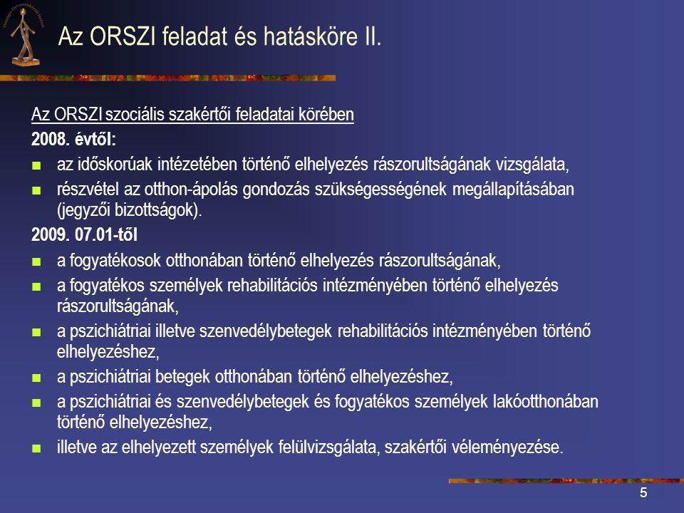 Az ORSZI feladat és hatásköre II.