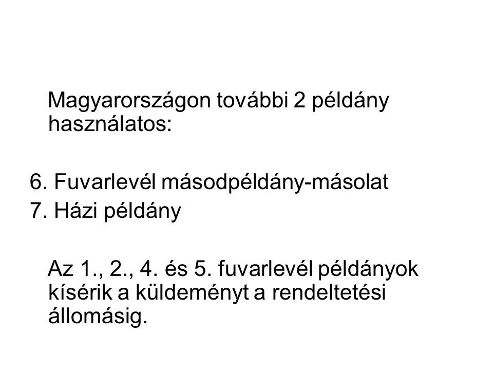 Magyarországon további 2 példány használatos: