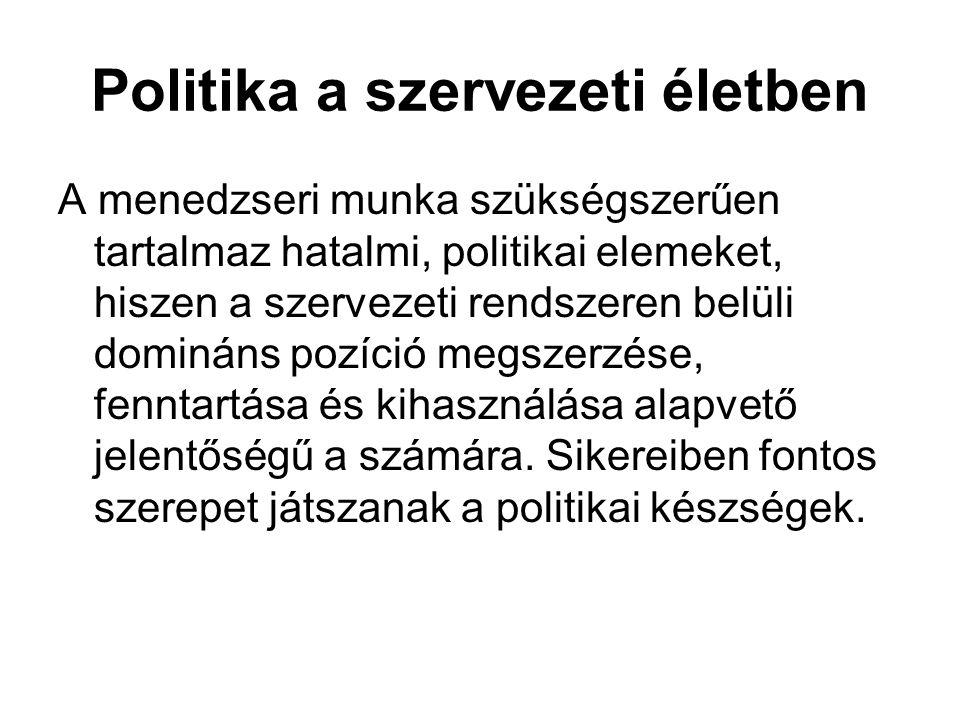 Politika a szervezeti életben