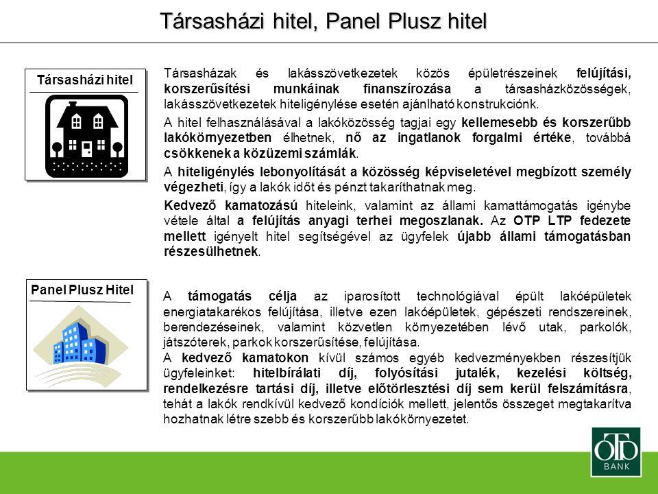 Társasházi hitel, Panel Plusz hitel