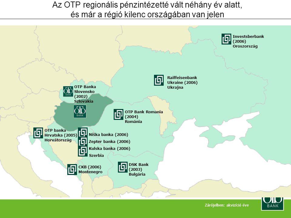 Az OTP regionális pénzintézetté vált néhány év alatt, és már a régió kilenc országában van jelen
