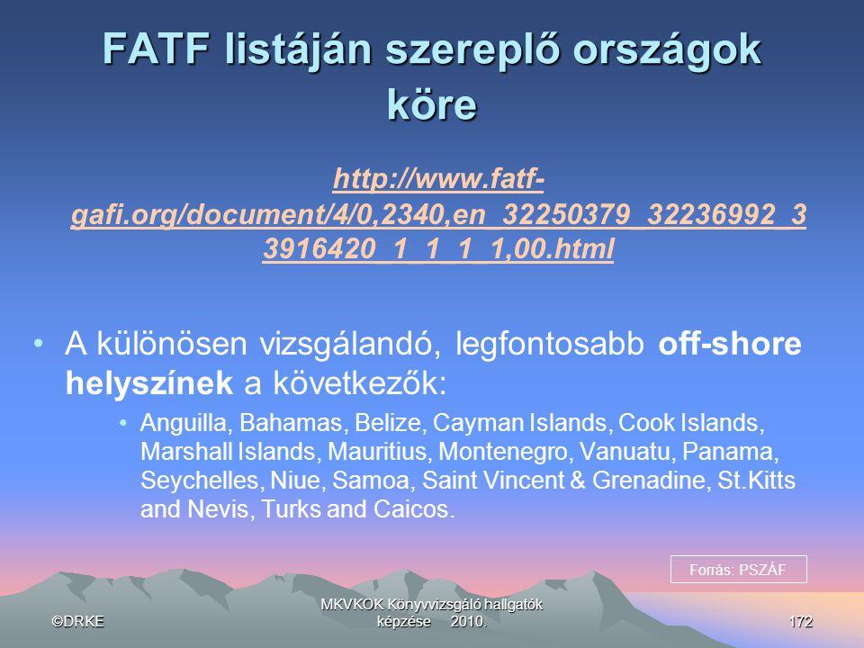 FATF listáján szereplő országok köre