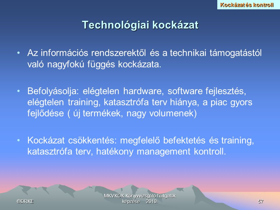 Technológiai kockázat