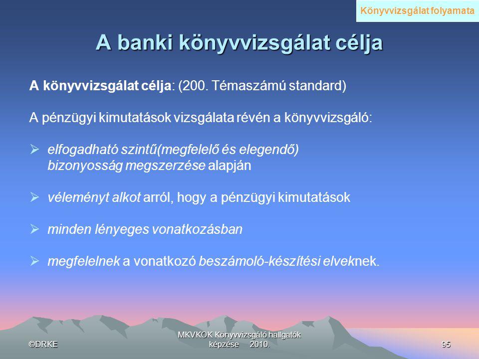 A banki könyvvizsgálat célja