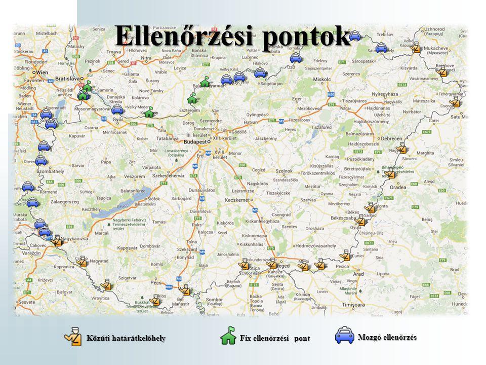 Ellenőrzési pontok Közúti határátkelőhely Fix ellenőrzési pont