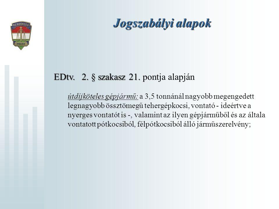Jogszabályi alapok EDtv. 2. § szakasz 21. pontja alapján