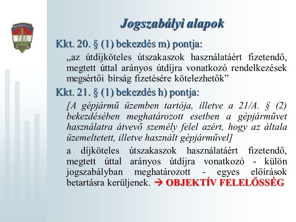 Jogszabályi alapok Kkt. 20. § (1) bekezdés m) pontja:
