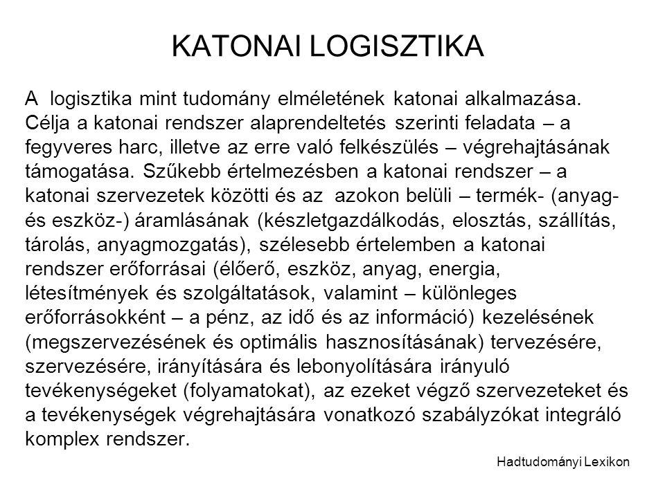 KATONAI LOGISZTIKA