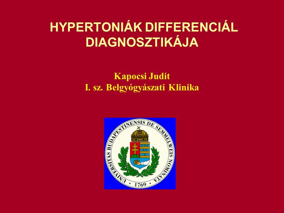 HYPERTONIÁK DIFFERENCIÁL DIAGNOSZTIKÁJA