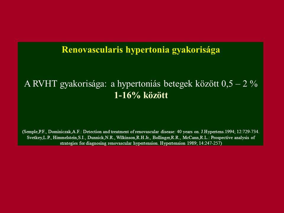 Renovascularis hypertonia gyakorisága
