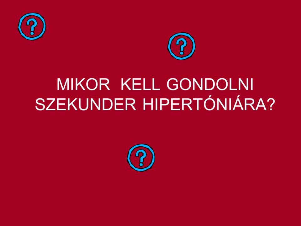 MIKOR KELL GONDOLNI SZEKUNDER HIPERTÓNIÁRA