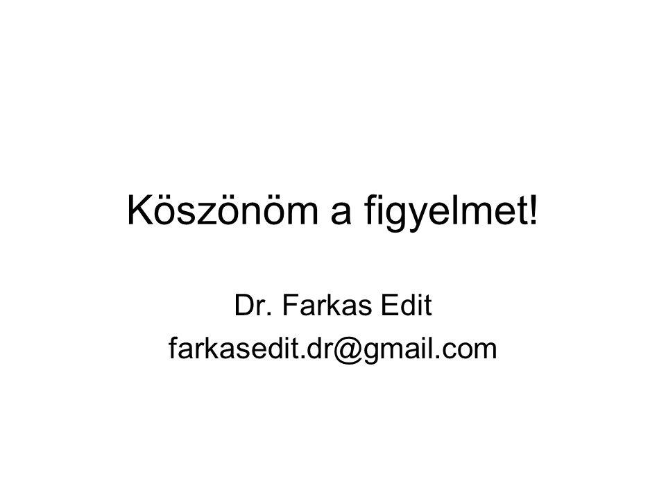 Dr. Farkas Edit farkasedit.dr@gmail.com
