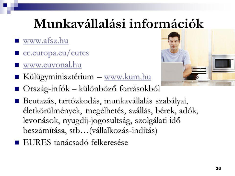 Munkavállalási információk