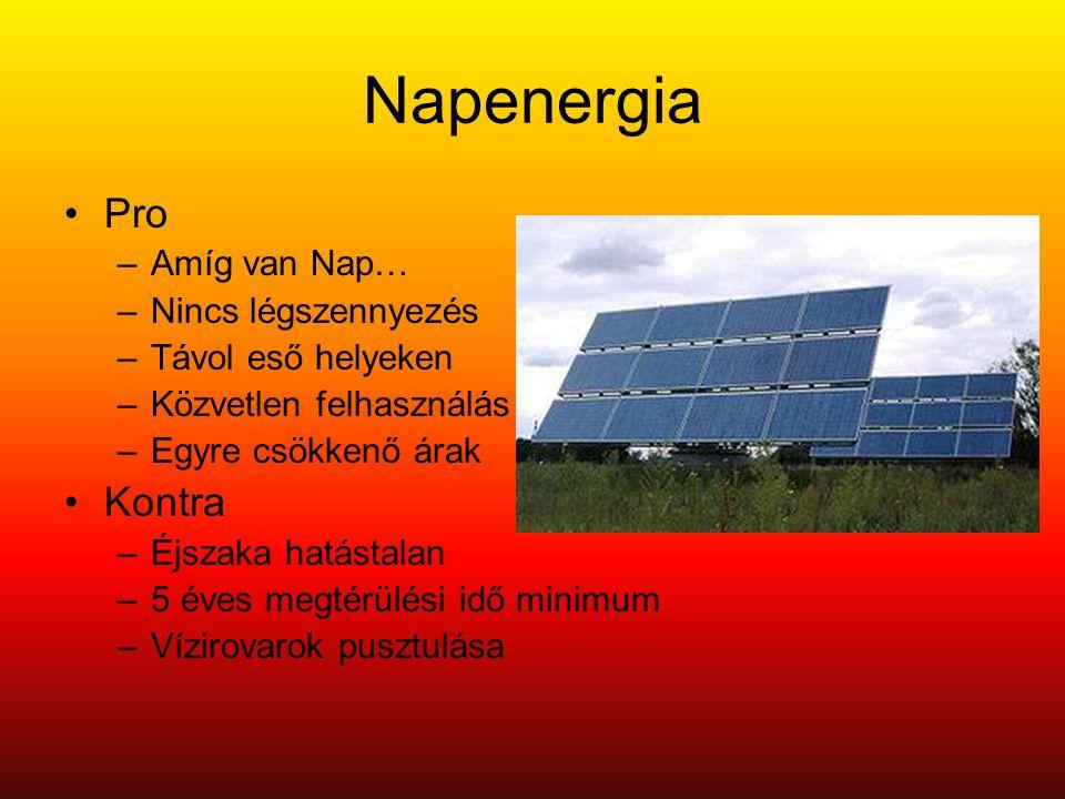 Napenergia Pro Kontra Amíg van Nap… Nincs légszennyezés